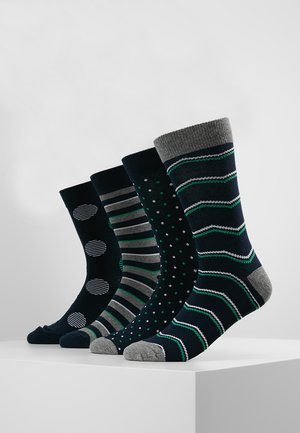 JACBIG DOTS SOCKS 4 PACK - Calze - navy blazer