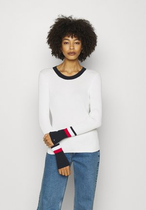 WARM GLOBAL STRIPE - Trui - ecru