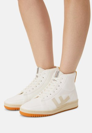 VEGAN OLD 80'S  - High-top trainers - white mustard bicolor