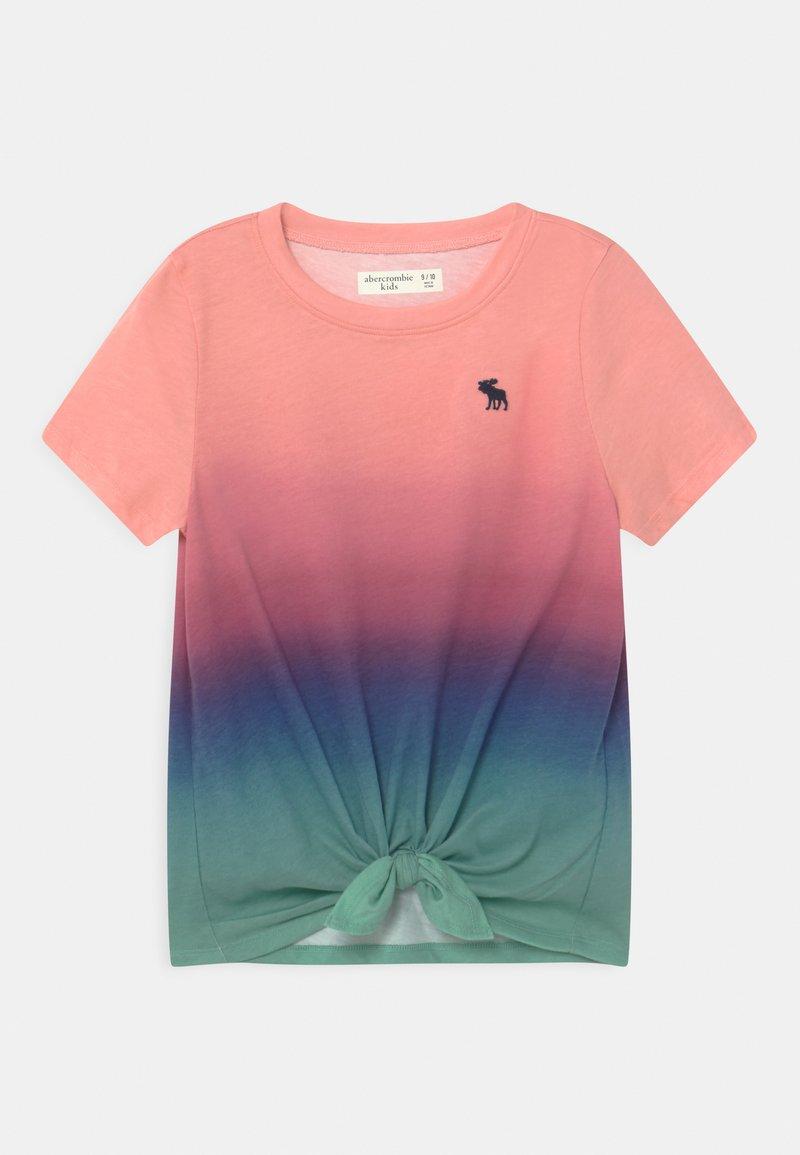 Abercrombie & Fitch - TIE FRONT  - Triko spotiskem - pink