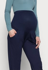 Dorothy Perkins Maternity - OVER BUMP JOGGER - Tracksuit bottoms - navy - 3