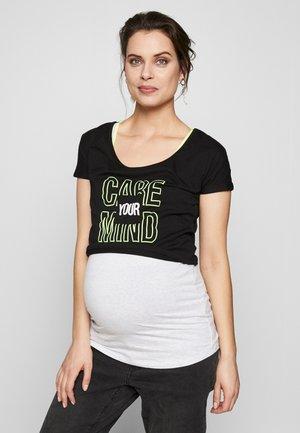 NURSING DOUBLE - Camiseta estampada - black