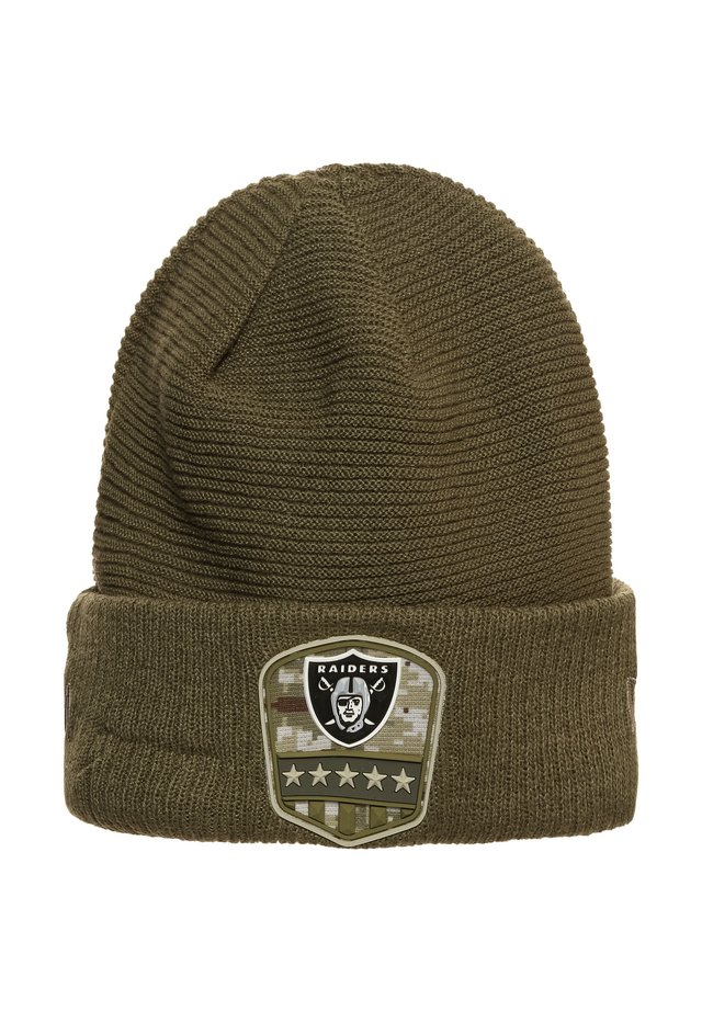 NFL OAKLAND RAIDERS SALUTE TO SERVICE BEANIE - Pipo - olive