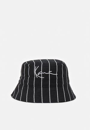SIGNATURE PINSTRIPE BUCKET HAT UNISEX - Šešir - black