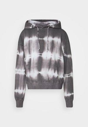 TIE DYE HOODIE - Sweatshirt - charcoal