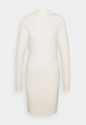 HIGH NECK LONG SLEEVE MINI DRESS - Etui-jurk - vanilla