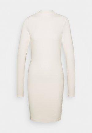 HIGH NECK LONG SLEEVE MINI DRESS - Shift dress - vanilla
