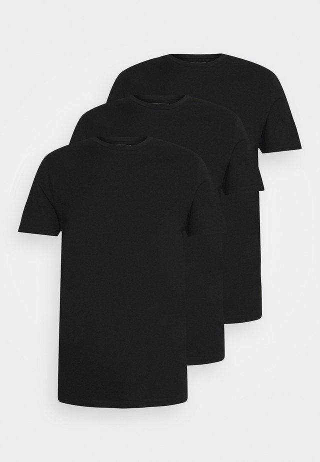 3 PACK - T-shirt basic - black