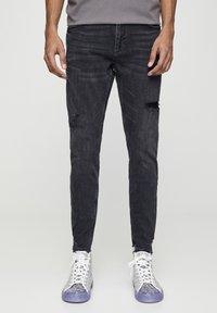 PULL&BEAR - Skinny džíny - mottled black - 0