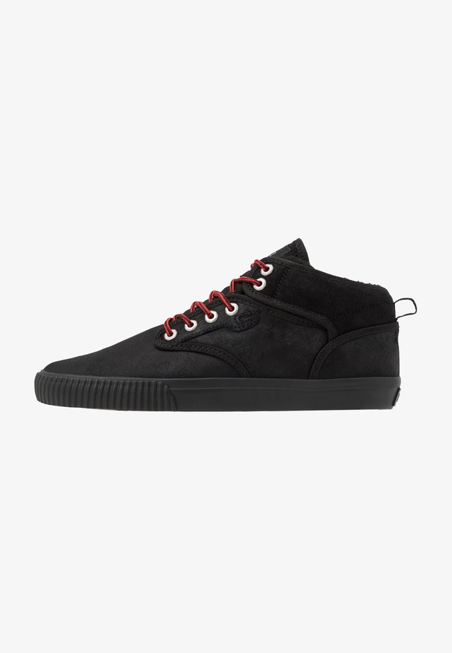 MOTLEY MID - Skate shoes - black/red
