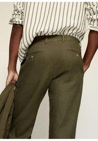 Mango - Trousers - khaki - 4