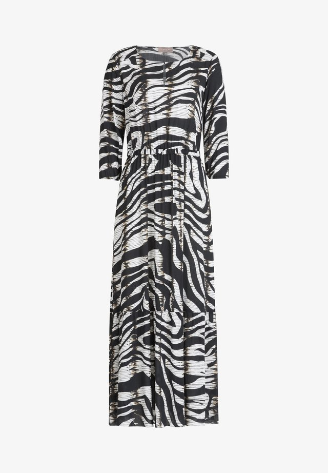 MIT 3/4 ARM - Maxi dress - schwarz/weiß