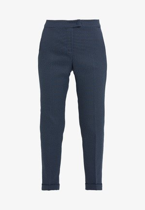 PASCAL - Trousers - navy blue pattern