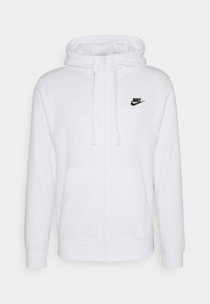 CLUB HOODIE - veste en sweat zippée - white/black