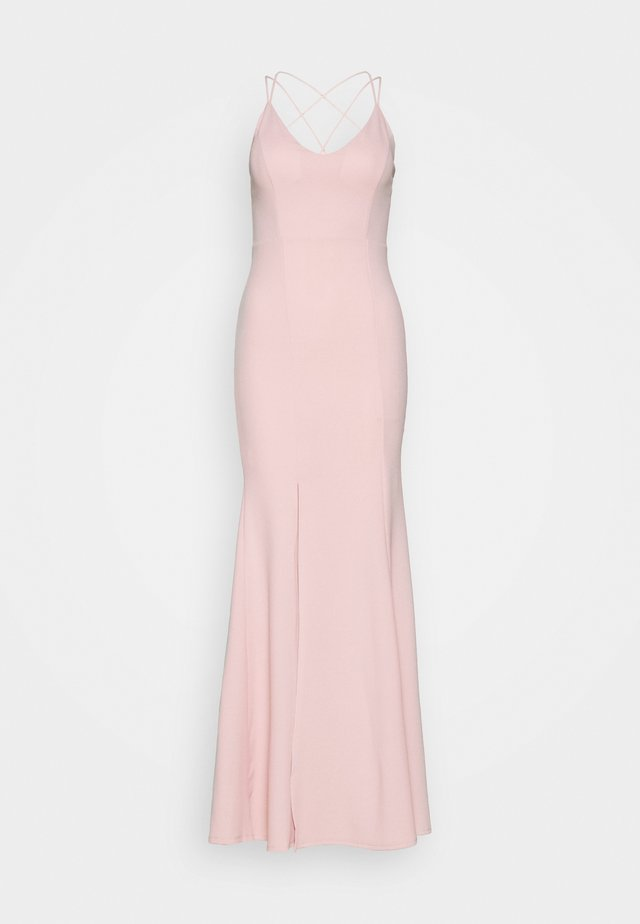 FITTED SPLIT DRESS - Ballkjole - blush