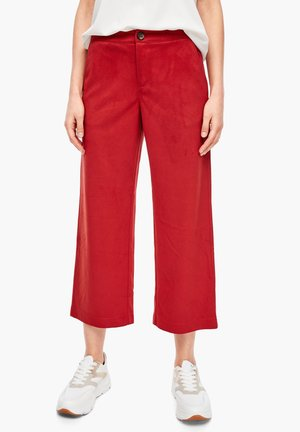 CULOTTE AUS VELOURS - Trousers - red