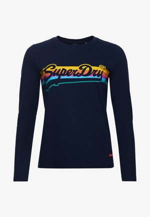 VINTAGE LOGO CALI - Long sleeved top - nautical navy