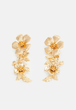 SUM FLORAL DROP - Kolczyki - gold-coloured