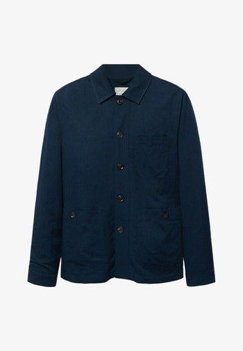 MARTE - Giacca di jeans - dunkles marineblau