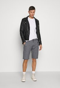 TOM TAILOR DENIM - 3 PACK - T-shirt basic - light stone/grey melange - 1