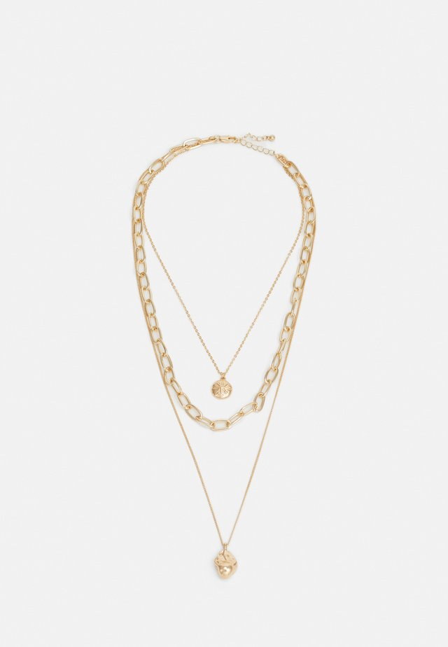 PCBLOSSOM COMBI NECKLACE - Collar - gold-coloured