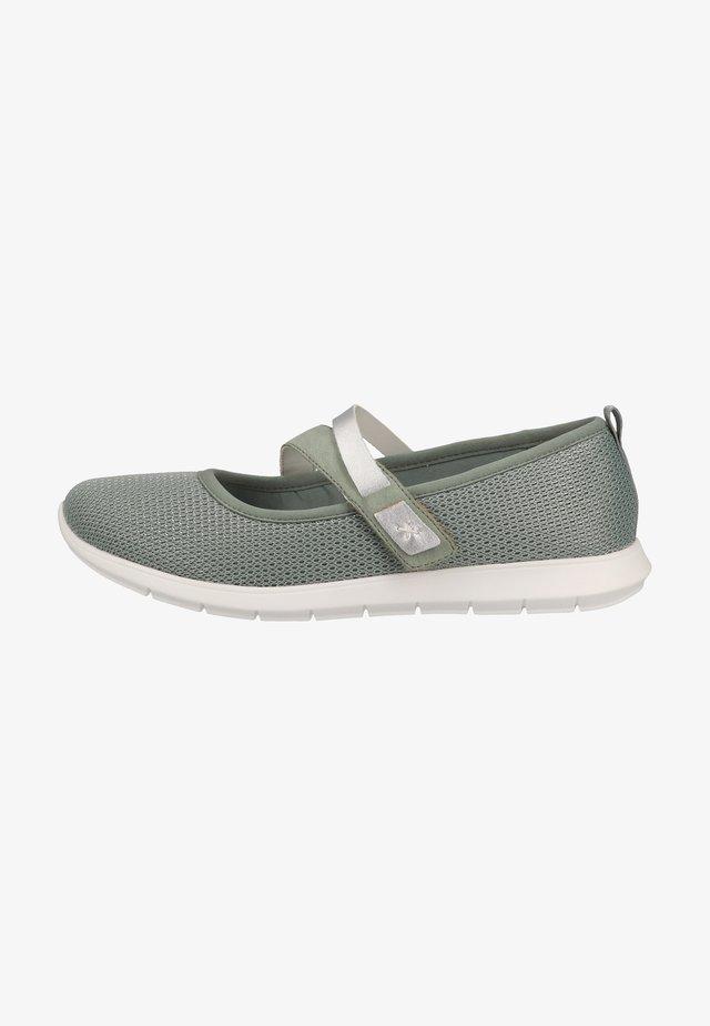Ankle strap ballet pumps - mint/peppermint/silver