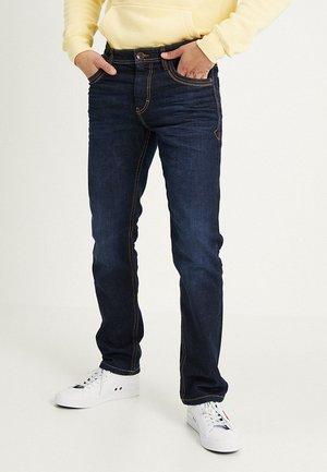 MARVIN - Jeansy Straight Leg - dark stone wash denim blue