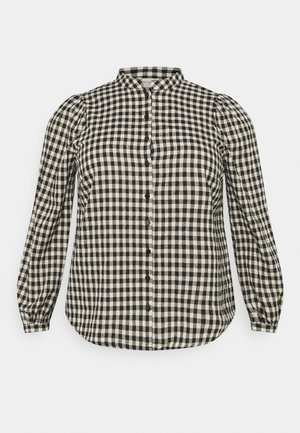 CARFANDO CHECK - Button-down blouse - black/creme