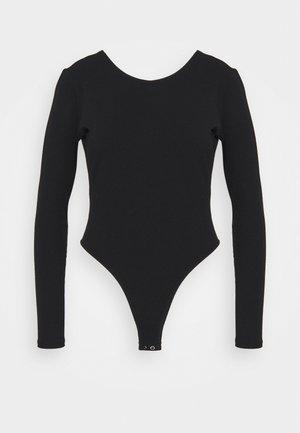 LONG SLEEVE BODYSUIT - Long sleeved top - black