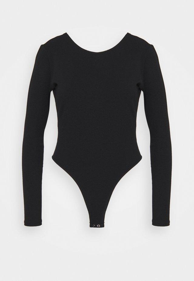 LONG SLEEVE BODYSUIT - Maglietta a manica lunga - black