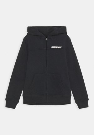 LOGO - Zip-up hoodie - black