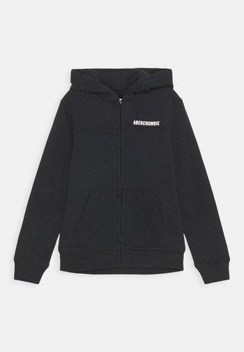 LOGO - Zip-up sweatshirt - black