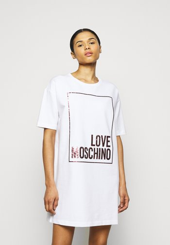 Jersey dress - optical white