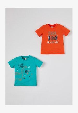 2 PACK - T-shirt print - orange