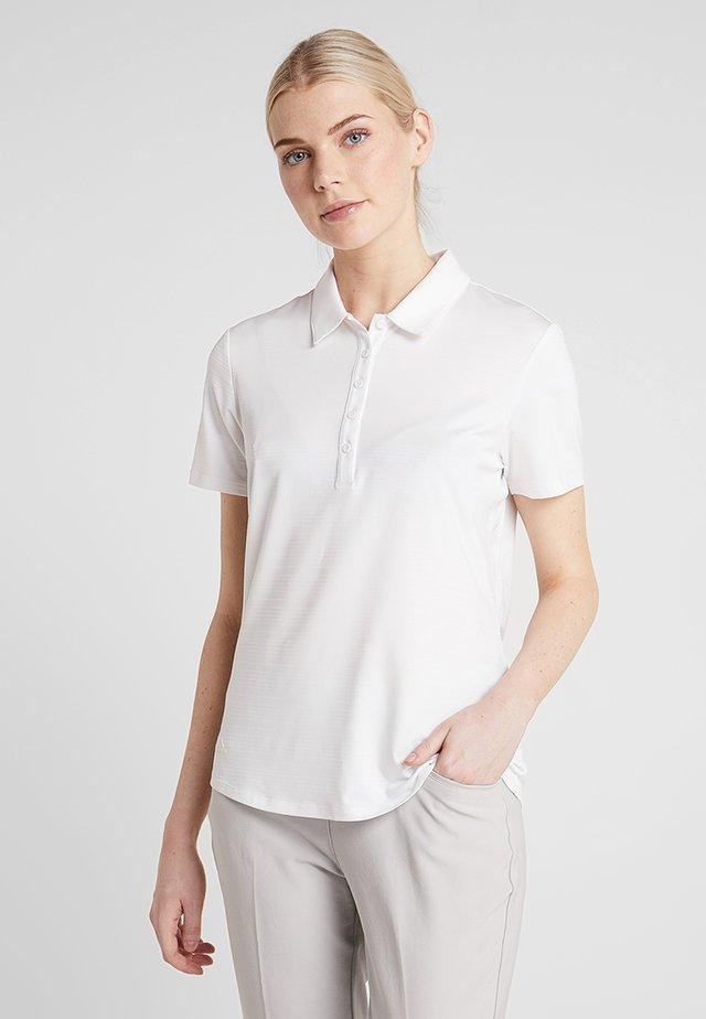 MICRODOT SHORT SLEEVE - Poloskjorter - white