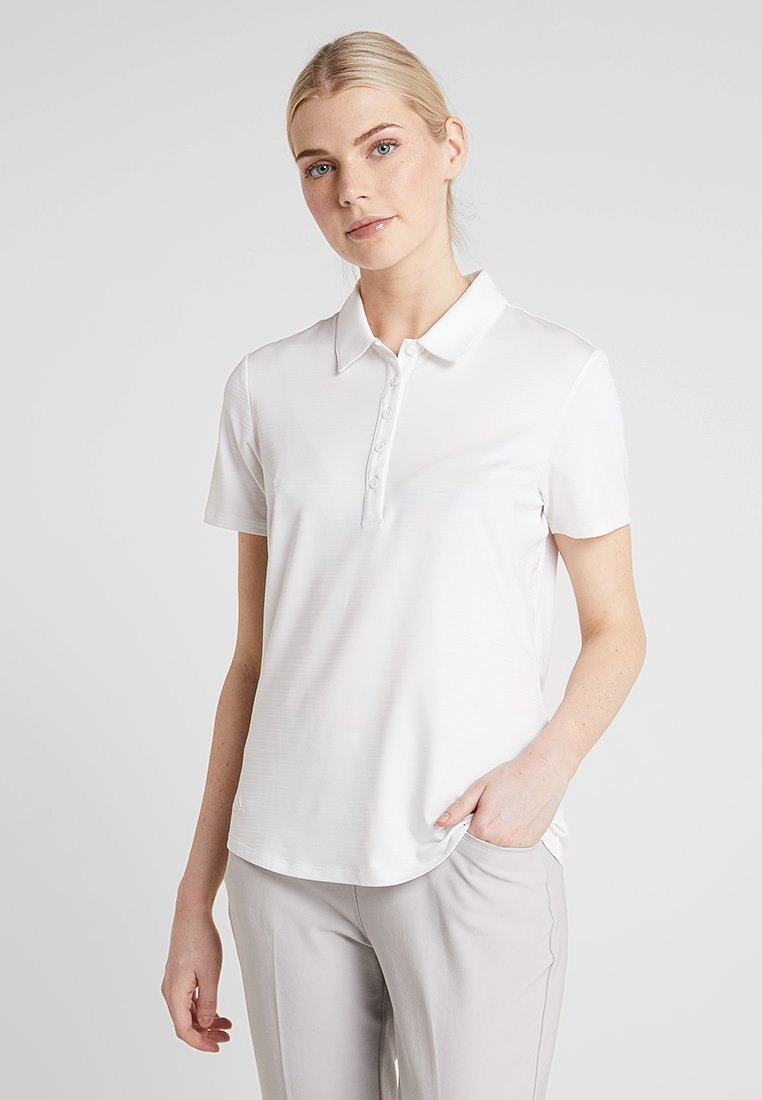 adidas Golf - MICRODOT SHORT SLEEVE - Poloshirt - white