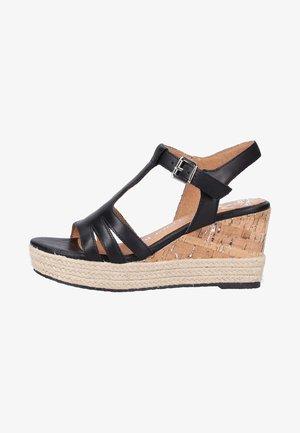 Wedge sandals - black
