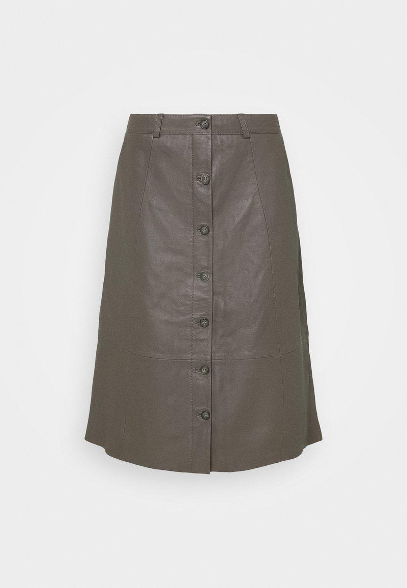 Culture - CUBENJA - Kožená sukně - tarmac