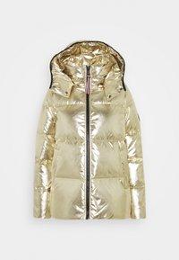 HIGH GLOSS PUFFER - Down jacket - gold