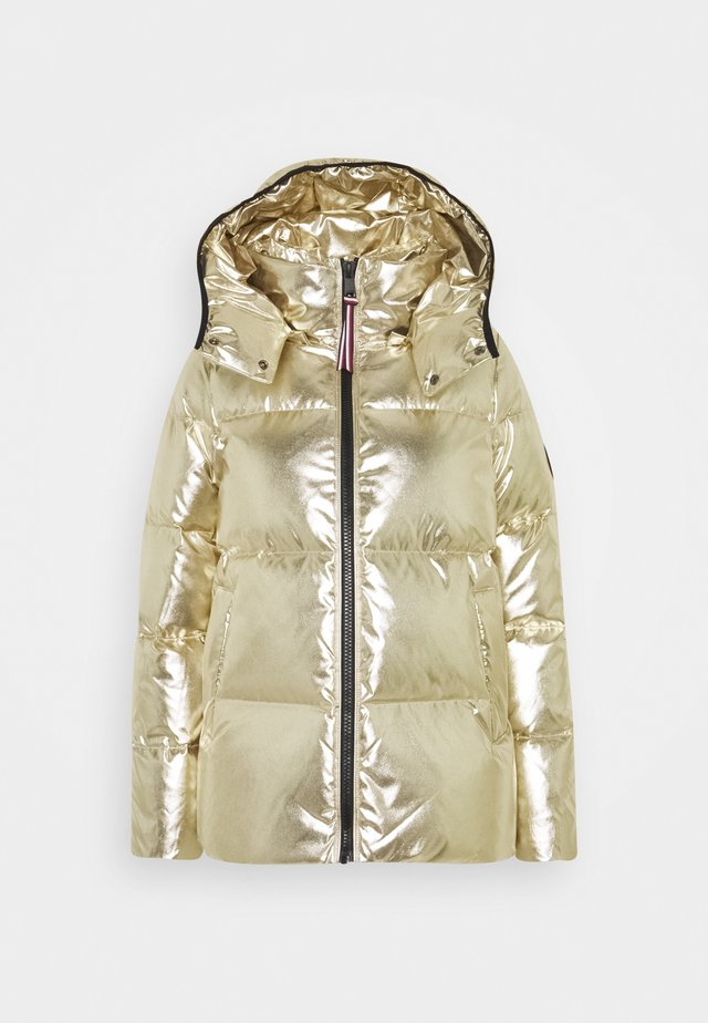 HIGH GLOSS PUFFER - Down jacket - gold