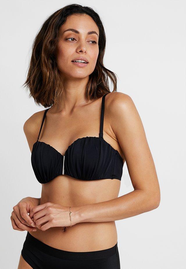 FIJI BANDEAU - Bikini pezzo sopra - black