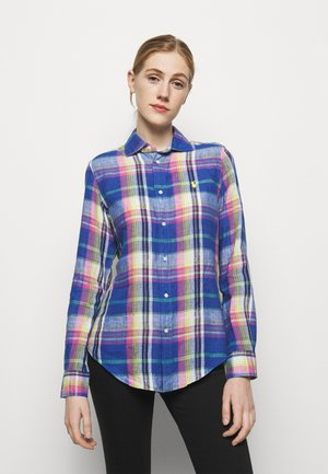 PLAID - Button-down blouse - blue/pink