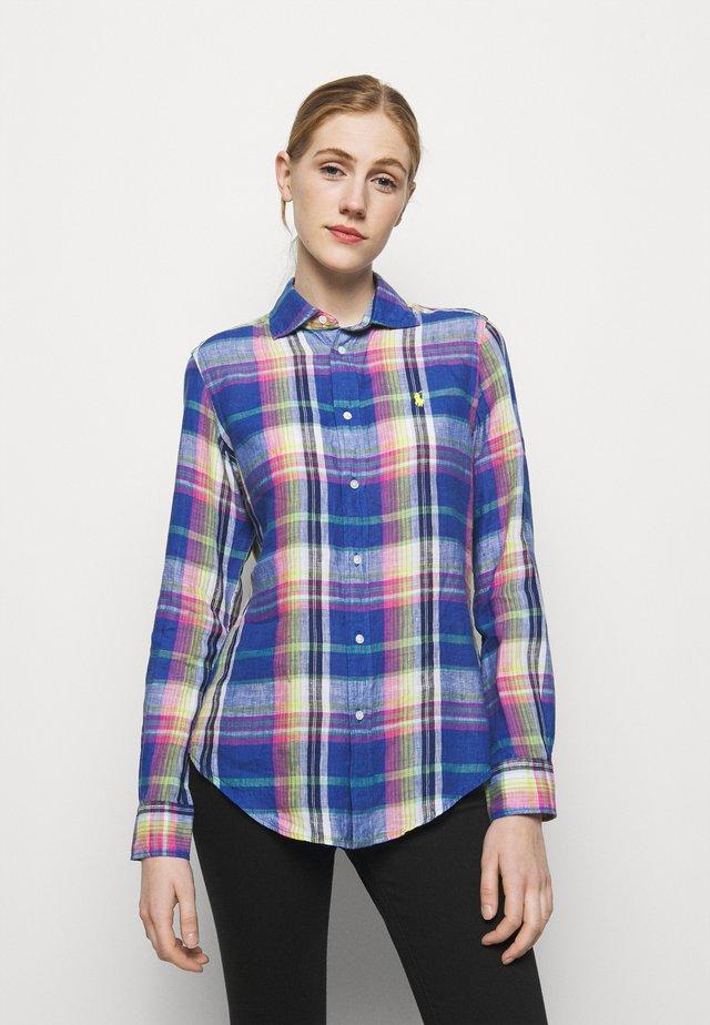 PLAID - Košile - blue/pink