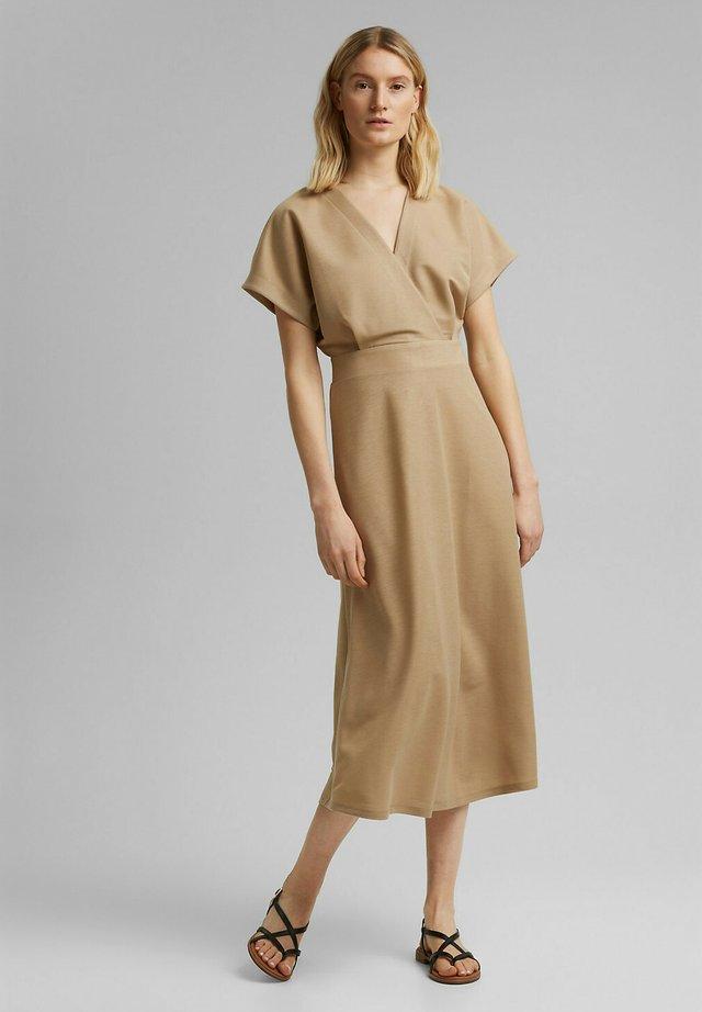 WRAP DRESS - Maxi-jurk - beige