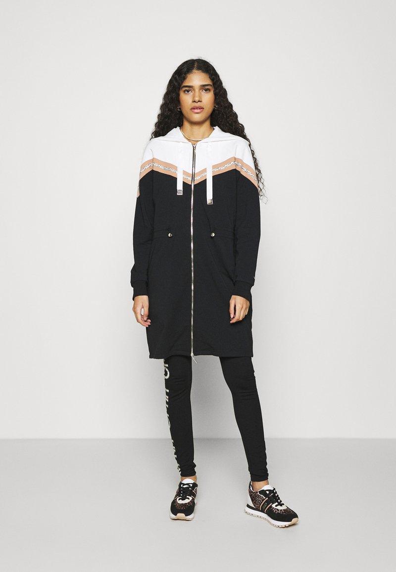 Liu Jo Jeans - FELPA APERTA - Zip-up sweatshirt - nero