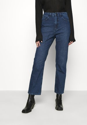HIGH RISE - Jeans straight leg - mid blue wash