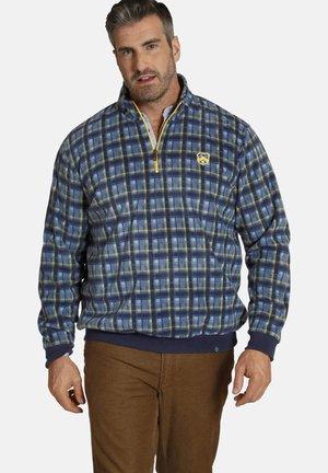Sweater - blau kariert