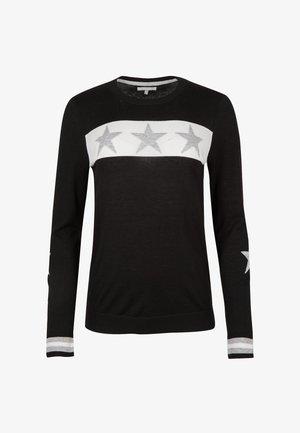 TRIPLE STAR MOTIF  - Strikpullover /Striktrøjer - black