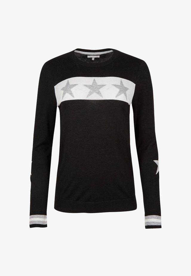 TRIPLE STAR MOTIF  - Stickad tröja - black