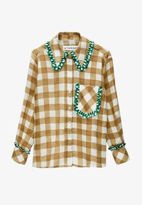 Uterqüe - MIT VICHYKAROS  - Button-down blouse - camel - 5